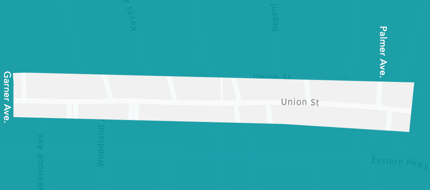 map showing Upper Union Street on map